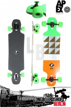 Apex Alley Maple neon Longboard Komplett