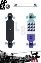 Apex Alley Maple blue Longboard Komplett