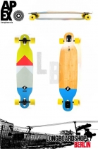 Apex Hillside MK2 Bamboo Longboard Komplettboard