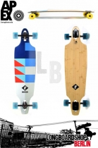 Apex Promenade MK2 Blue Komplett Longboard