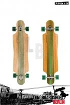 Apollo Kauai TwinTip DT Grün Komplett Longboard