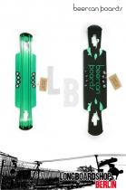 Beercan Kegger Lite Drop Through Longboard Deck green 37