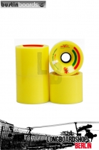Bustin Rollen Premier 75mm 82a Wheels - Yellow