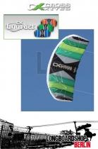 Cross Kites Boarder Longboard Kite Lenkmatte RtF 2.5