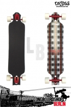 Dregs Slide 102 PLAID 38 x 8.5 Longboard