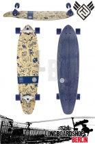 Flying Wheels Ink Is Drug 37 Bamboo longboard Komplett