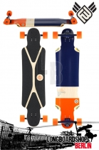 Flying Wheels Mustang Sally 38,5 Navy Komplett Longboard