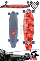 Flying Wheels Palm 35 Red Komplett Longboard