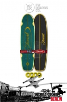"Flying Wheels Stewart Regal 28"" Longboard Teal"