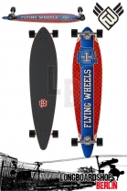 Flying Wheels Varsity 43 Blue Patriot Komplett Longboard