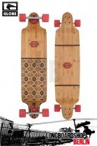 Globe Bannerstone Bamboo Red Longboard