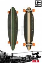 Globe Pinner Black Sea Port Orange Longboard