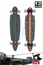 "Globe Pinner DT 41"" Brown/Leaves Komplett Longboard"