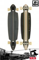 Globe Pinner Drop Through Blk/Gold Longboard komplett
