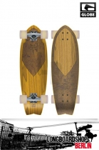 Globe Wedge Swallow Clear Wheat Longboard komplett