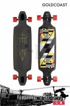 GoldCoast Serpentagram Drop Through Black Longboard