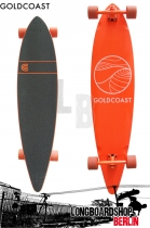 GoldCoast Classic Orange Pintail Longboard komplett