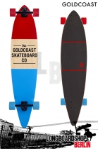GoldCoast Standard Red-Blue Komplett Longboard