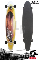 Krown Longboard Komplett Orange Sunset Kicktail Cruiser 41,5