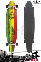 Krown Longboard Komplett Rasta Kicktail Cruiser 41,5