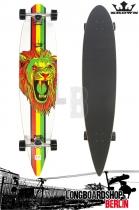 Krown Longboard Komplett Rasta Lion Pintail Cruiser 43