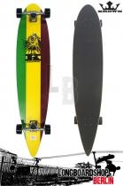 Krown Longboard Komplett Rasta Pintail Cruiser 43