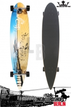 Krown Longboard Komplett Sunset Pier Pintail Cruiser 43