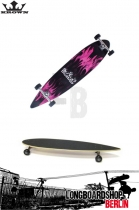 Krown Longboard Purple Flame Pintail Complete