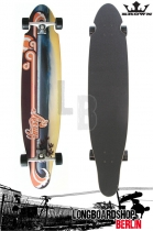 Krown Longboard Komplett Wave Sunset Kicktail Cruiser 41,5