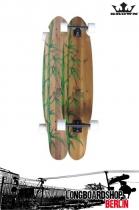 Krown Longboard Komplett Exotic Kicktail Bamboo Cruiser