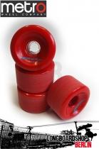 Metro Wheel Motion Rollen 70mm 80a - Rot