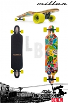 "Miller Travel Stickers 41"" Freestyle Longboard"