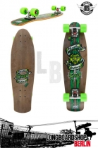 Mindless Voodoo Rustler Kicktail Mini Cruiser Green