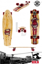 Mindless Voodoo Rustler Kicktail Mini Cruiser Red