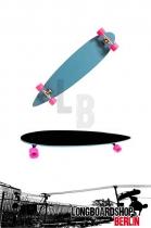 Moose Longboard Pintail Light Blue Komplettboard