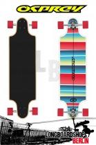 Osprey Stripe Twin Tip Downhill Longboard
