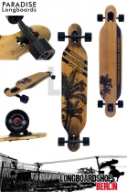 Paradise Brown Palms Drop Thru Komplett Longboard