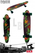Paradise Flowers Kicktail Komplett Longboard