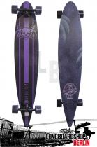 Paradise Longboard Pintail Skull & Palms Cruiser Komplettboard