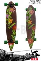 Paradise Longboard Flowers 43