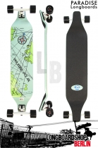 Paradise Longboard Nautical Map DropDown 40