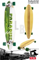 Paradise Longboard White Bamboo Pintail 104cm Cruiser