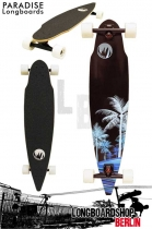 Paradise Longboard Wave Palms Pintail Cruiser