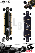 Paradise Prism DropTrough Longboard komplett - Paris Trucks Edit