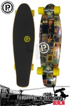 Prohibition Oldschool Retro Wood Longboard Cruiser Brazil