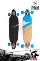"""RAM Lokz Mini  Marina Blue 36"""" Komplett Longboard"""