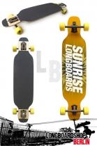 Sunrise Longboard Spring Edition 98cm Drop Thru Komplettboard