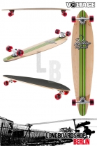 VOLLB301 Voltage Big Pintail Grün komplett longboard