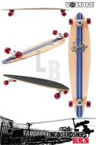 Voltage Big Pintail Blau komplett longboard