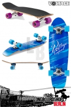 Voltage Cruiser Blau Komplett Longboard
